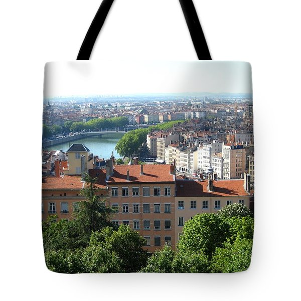 Tote Bag featuring the photograph Lyon From Above by Dany Lison