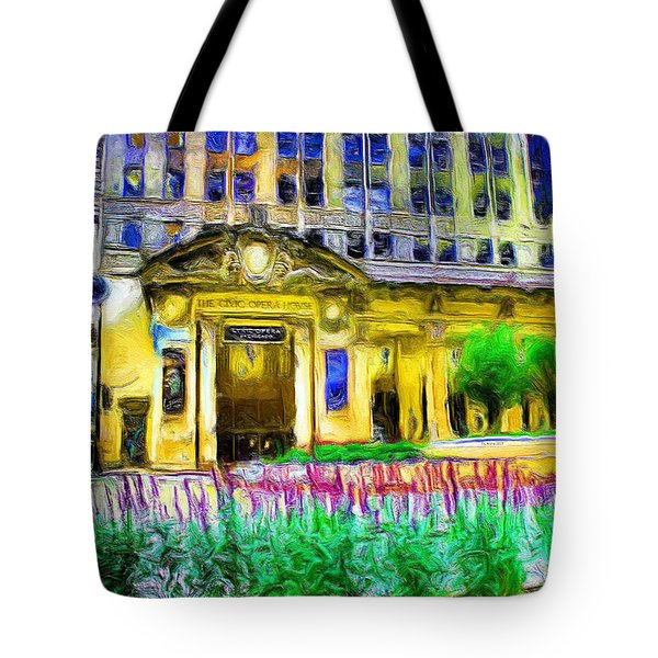 Lyric Opera House Of Chicago Tote Bag