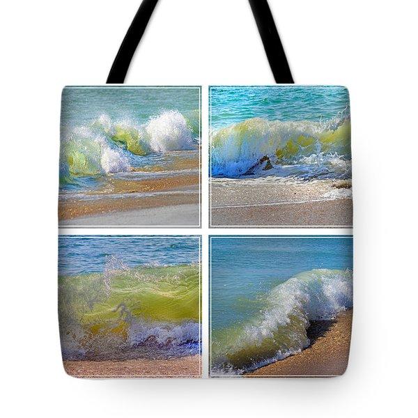 Lyrical Literacy Of Waves Tote Bag