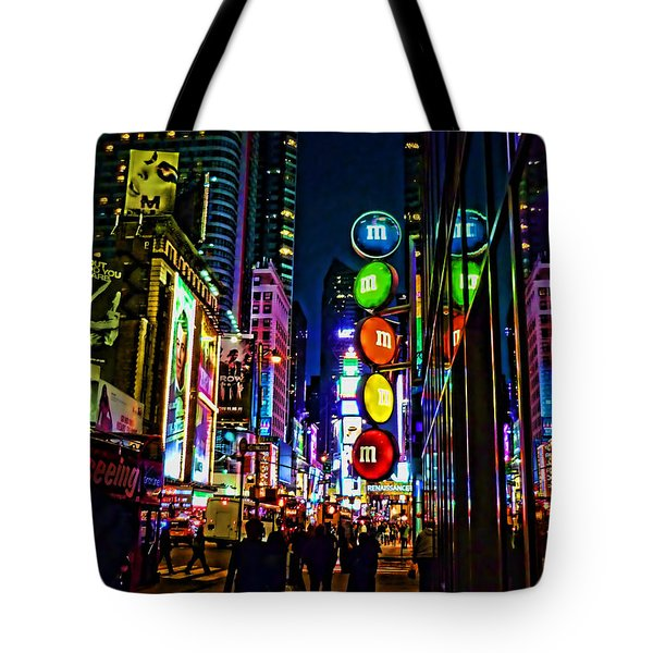 m and m store NYC Tote Bag by Jeff Breiman