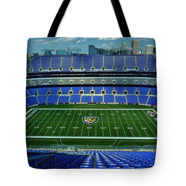 M And T Bank Stadium Tote Bag by Robert Geary