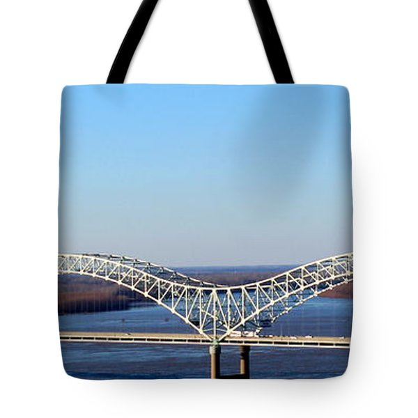 Tote Bag featuring the photograph M Bridge Memphis Tennessee by Barbara Chichester