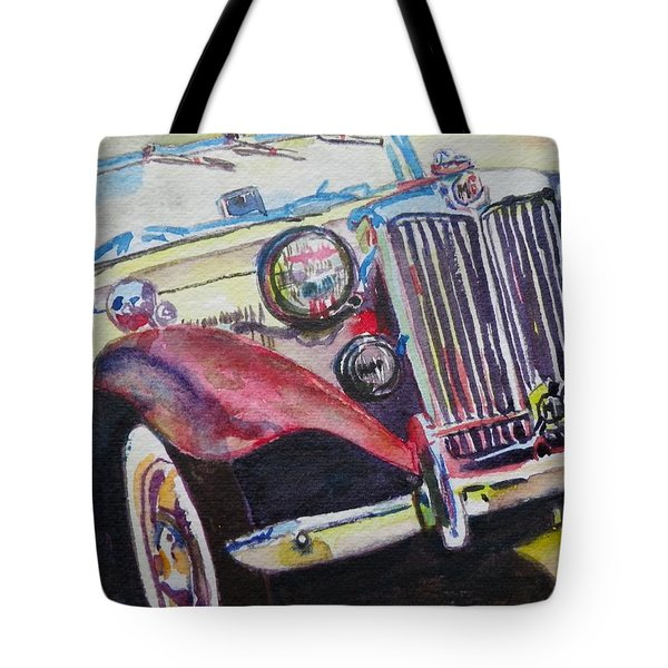 M G Car  Tote Bag