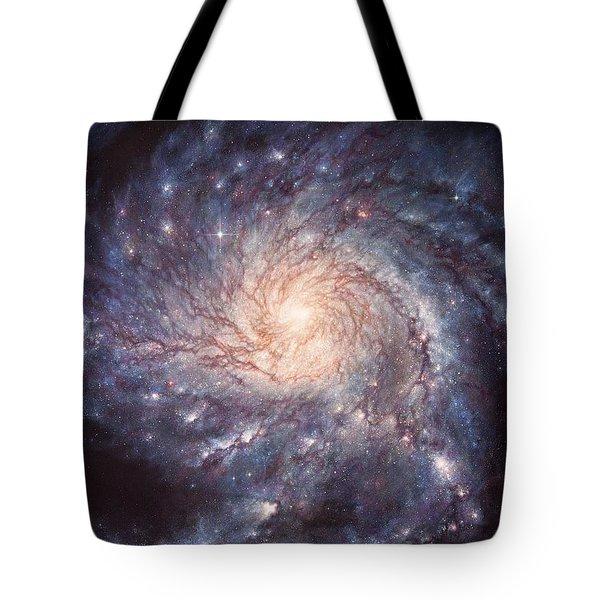 M101 Pinwheel Galaxy Tote Bag