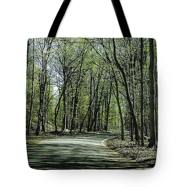 M119 Tunnel Of Trees Michigan Tote Bag