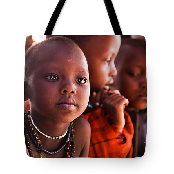 Maasai Children In School In Tanzania Tote Bag