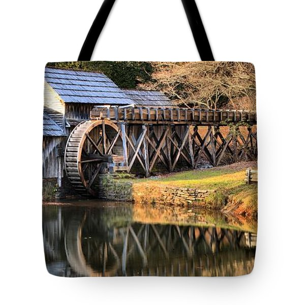 Mabry Grist Mill Fall Panorama Tote Bag