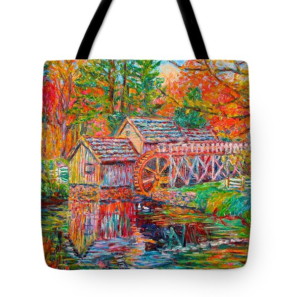 Mabry Mill In Fall Tote Bag