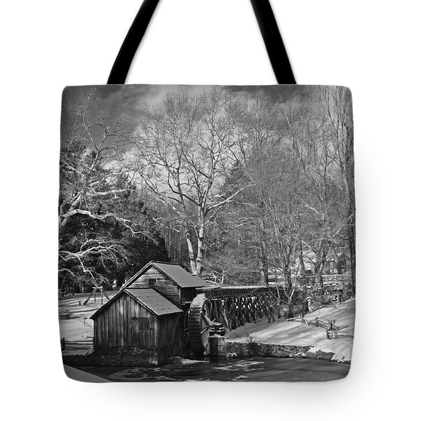 Mabry Mill In Snow Tote Bag