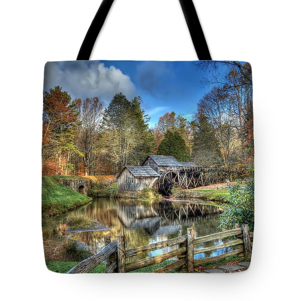 Mabry Mill Tote Bag by Jaki Miller