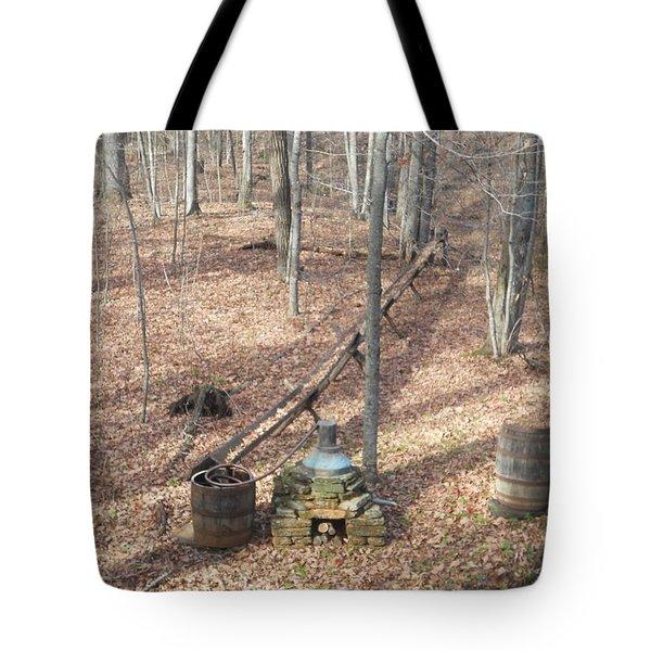 Mabry Mill Moonshine Still Replica Tote Bag