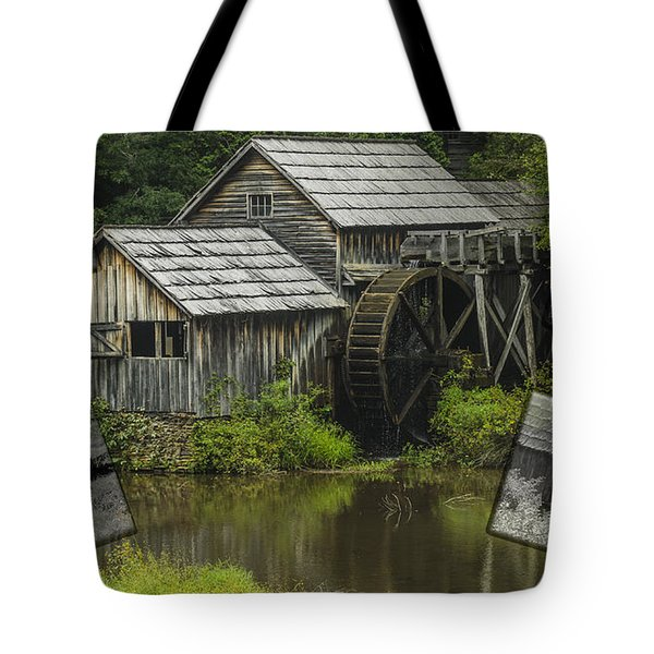 mabry Mill old and new Tote Bag