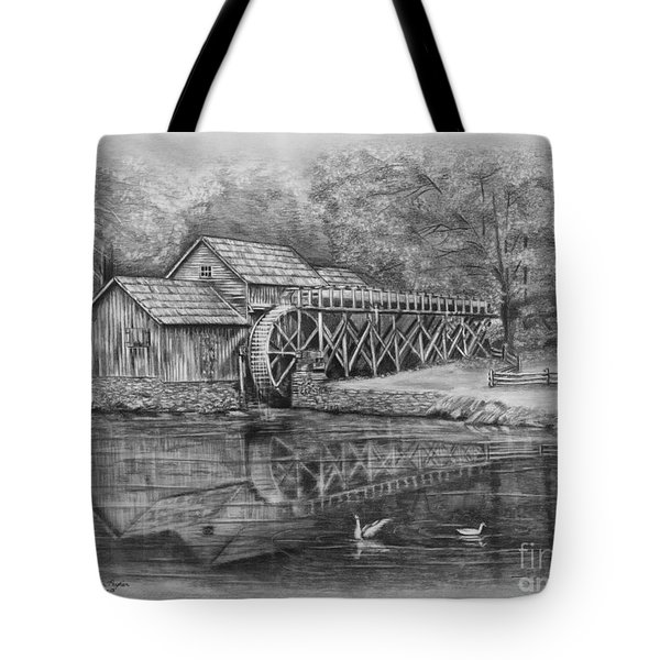 Mabry Mill Pencil Drawing Tote Bag