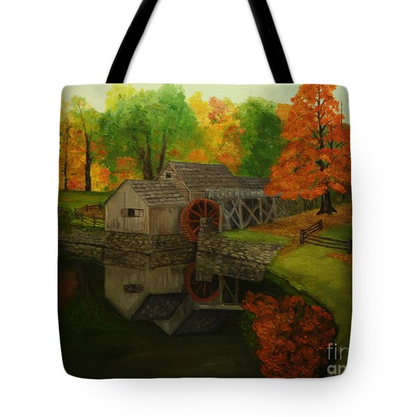 Mabry Mill Tote Bag by Timothy Smith