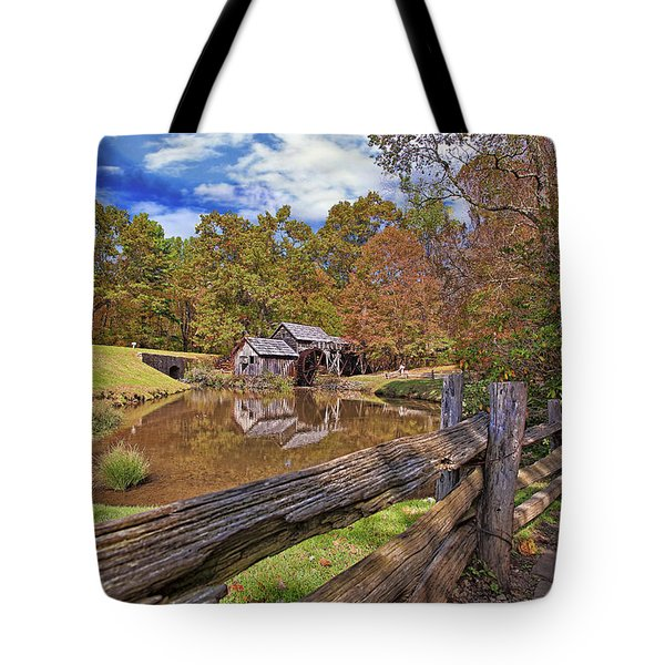 Mabry Mill Virginia Tote Bag by Marcia Colelli