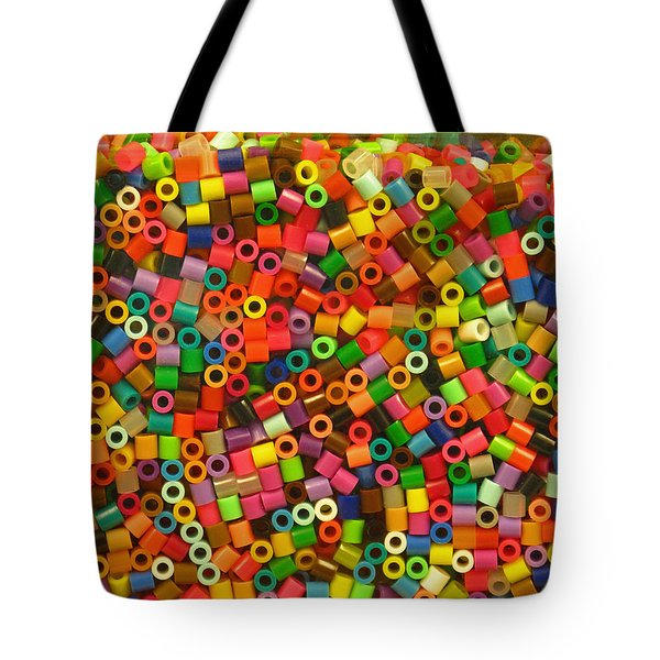 Tote Bag featuring the photograph Macaroni Beads by Ranjini Kandasamy