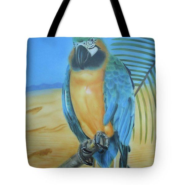 Macaw On A Limb Tote Bag