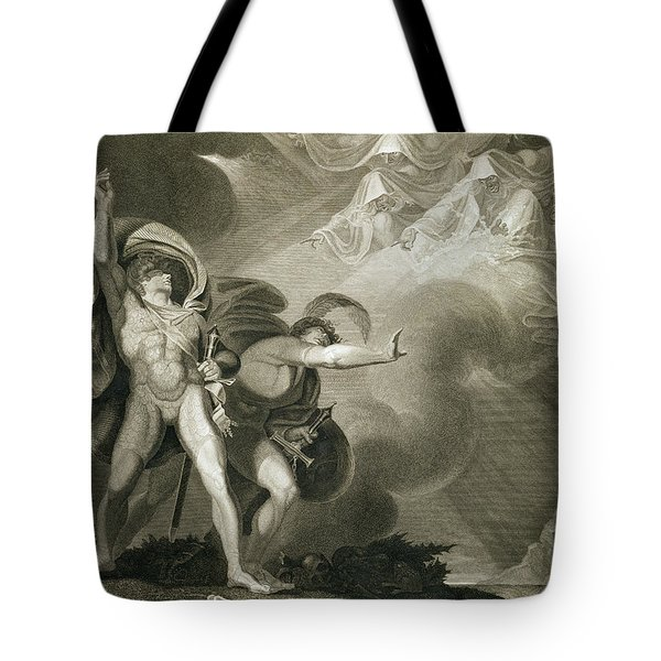 Macbeth Banquo And The Three Witches Tote Bag