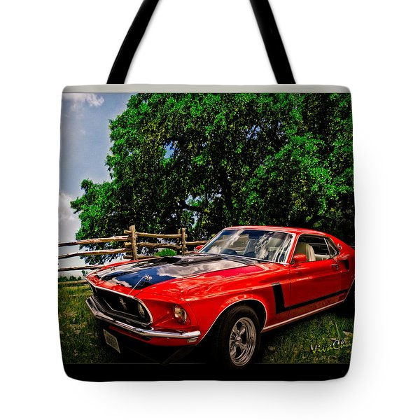 1969 Ford Mach 1 Mustang Tote Bag