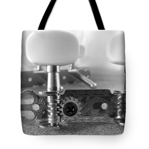 Machine Head In Black And White Tote Bag by Isabella F Abbie Shores FRSA
