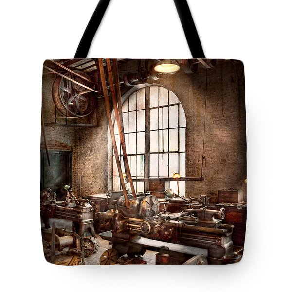 Machinist - I Like Big Tools Tote Bag by Mike Savad
