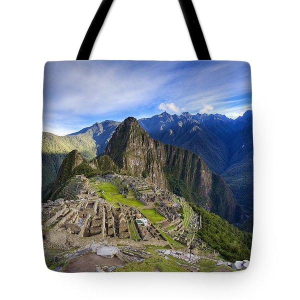 Machu Picchu Tote Bag by Alexey Stiop