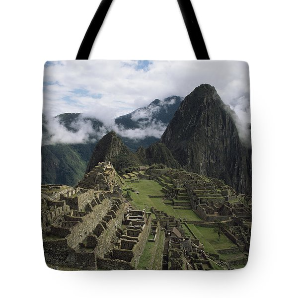 Machu Picchu Tote Bag by Chris Caldicott