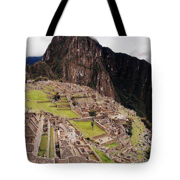 Machu Picchu Tote Bag by Ramona Johnston