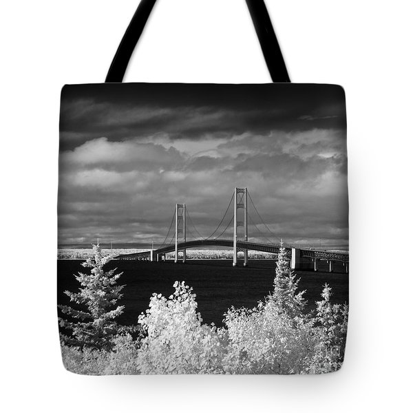 Macinac Bridge - Infrared Tote Bag