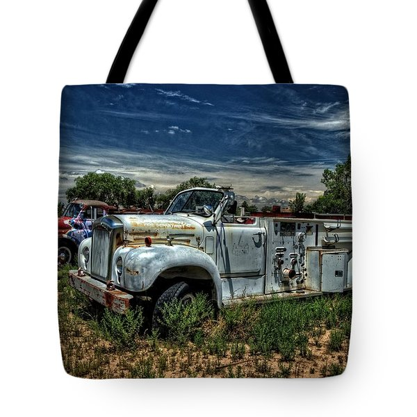 Tote Bag featuring the photograph Mack Fire Truck by Ken Smith