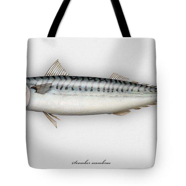 Mackerel Scomber Scombrus  - Maquereau - Caballa - Sarda - Scombro - Makrilli - Seafood Art Tote Bag