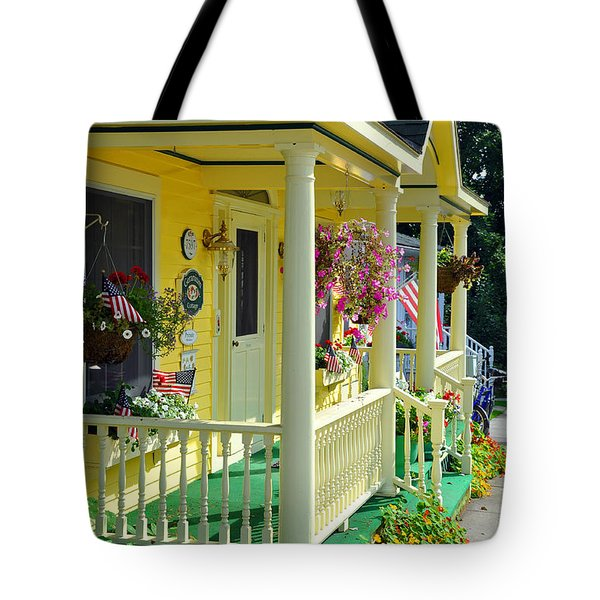 Mackinac Island Americana Tote Bag