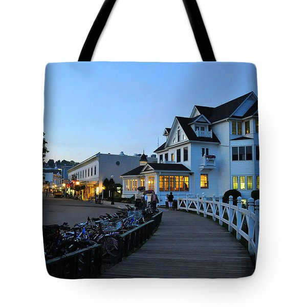Mackinac Island At Dusk Tote Bag