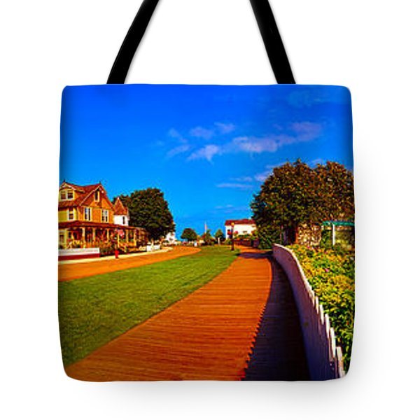 Mackinac Island Flower Garden  Tote Bag