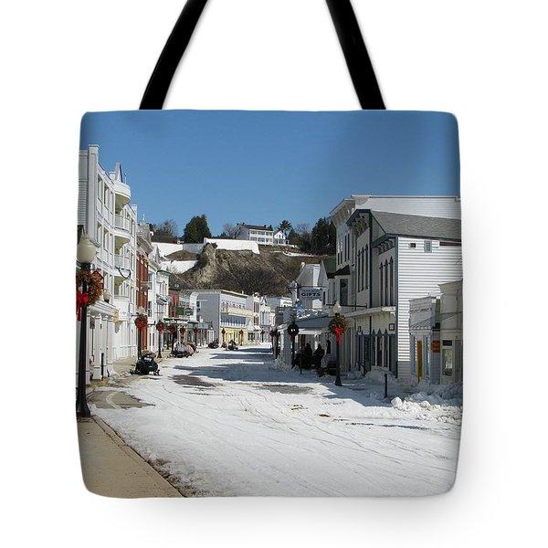 Mackinac Island In Winter Tote Bag