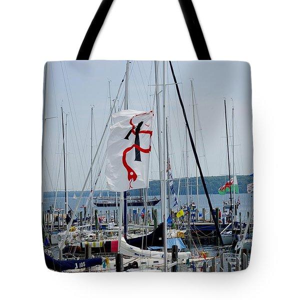 Mackinac Island Port Tote Bag by Randy Pollard