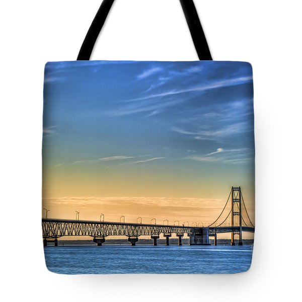 Mackinac Sunset Tote Bag