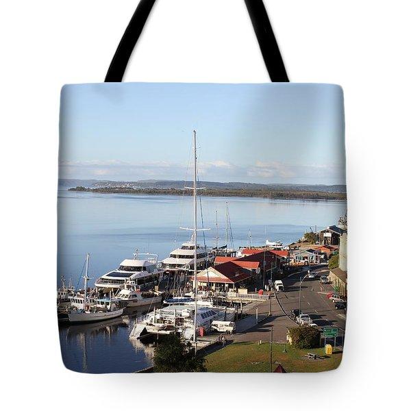 Macquarie Harbour Tasmania All Profits Go To Hospice Of The Calumet Area Tote Bag