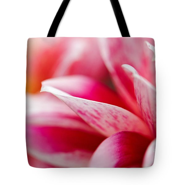 Macro Image Of A Pink Flower Tote Bag