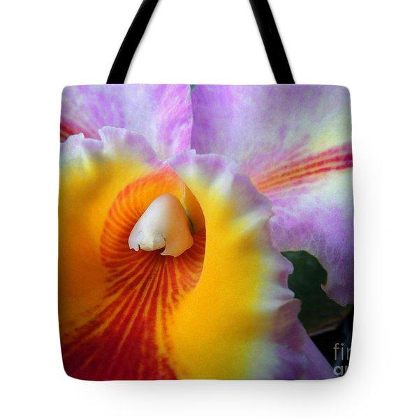 Macro Orchid Tote Bag