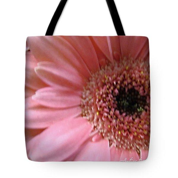 Macro Pink Gerbera Daisies Tote Bag