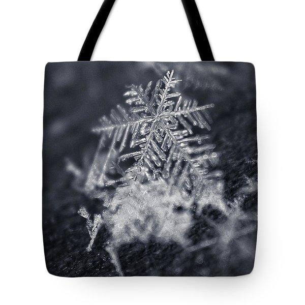 Macro Snowflake Tote Bag