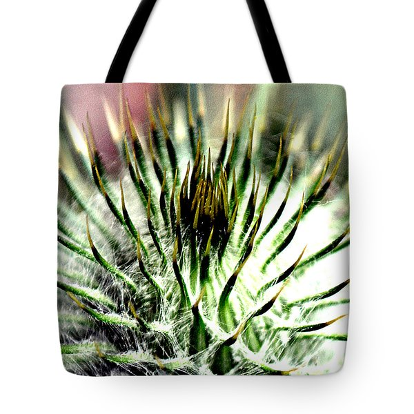 Macro Thistle  Tote Bag