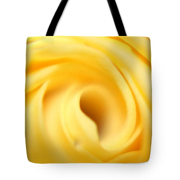 Macro Yellow Rose Tote Bag