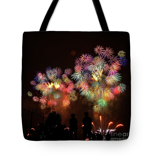 Macy's July 4th Fireworks New York City  Tote Bag by Nishanth Gopinathan