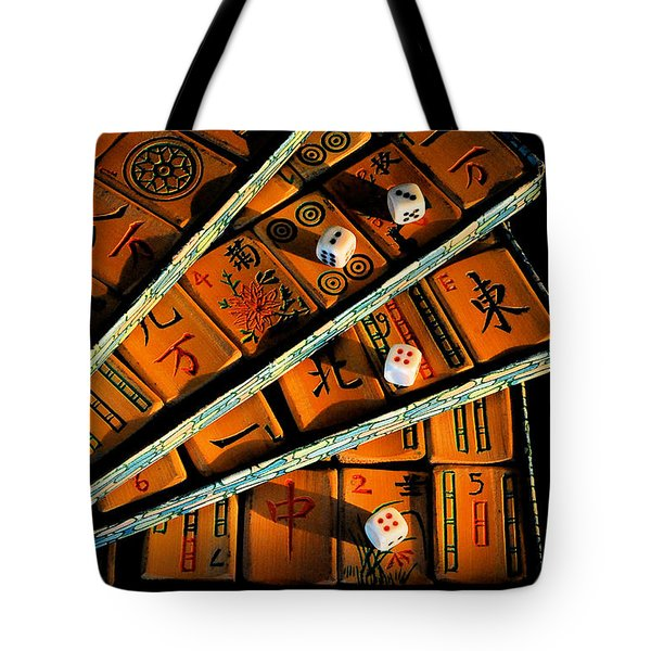 Mad For Mahjong Tote Bag by Lois Bryan