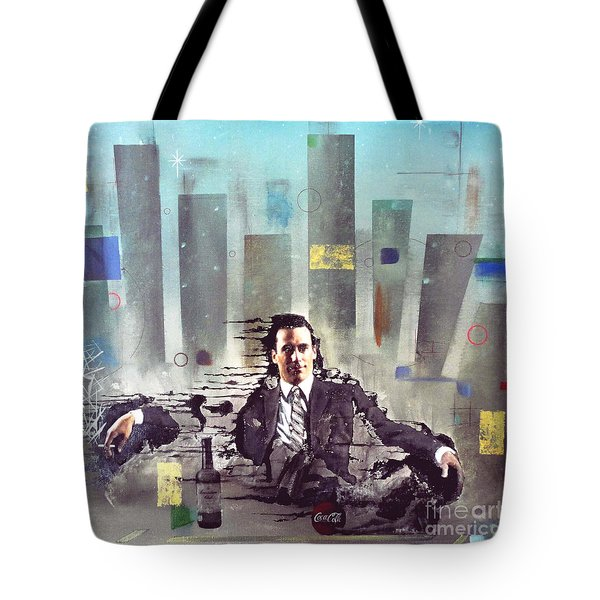 Mad Men Disintegration Of Don Draper Tote Bag