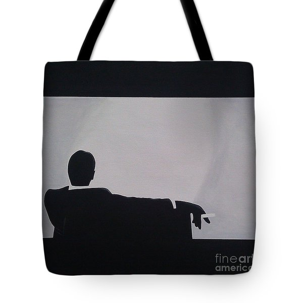 Mad Men In Silhouette Tote Bag