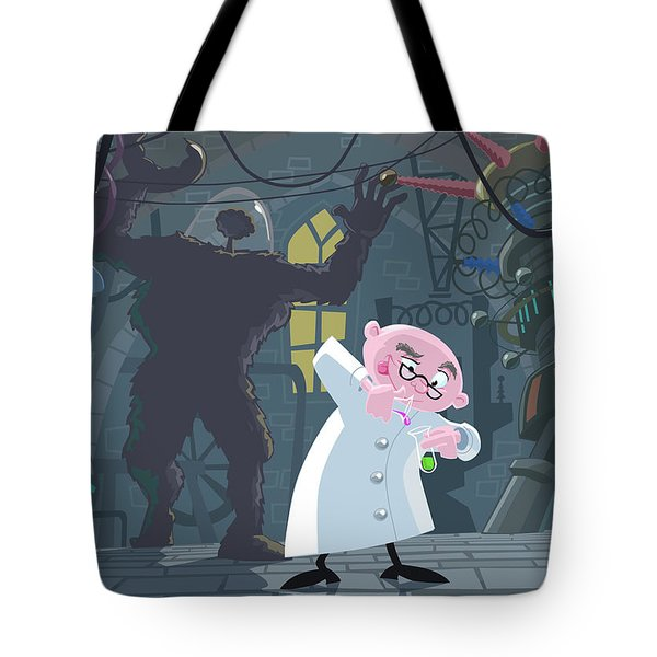 Mad Professor Experiment Tote Bag by Martin Davey