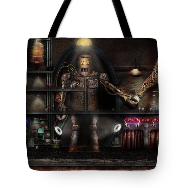 Mad Scientist - The Enforcer Tote Bag by Mike Savad